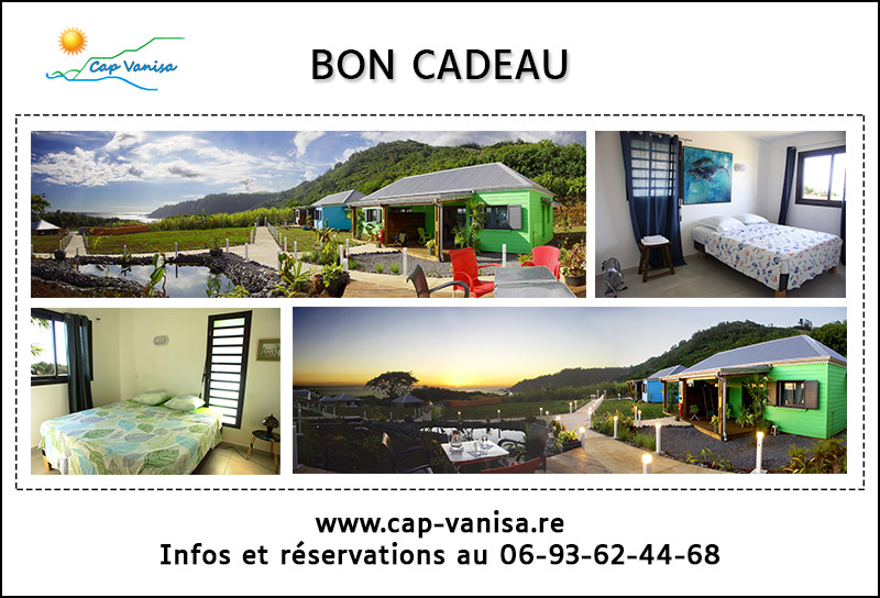 Gift voucher for a Cap Vanisa holiday bungalow rental in Reunion Island.